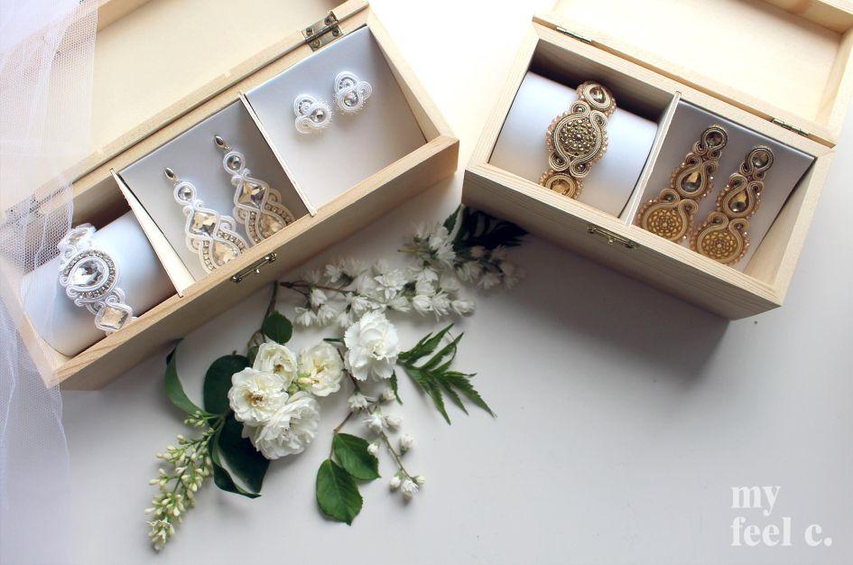biżuteria na ślub z filcu zestawy